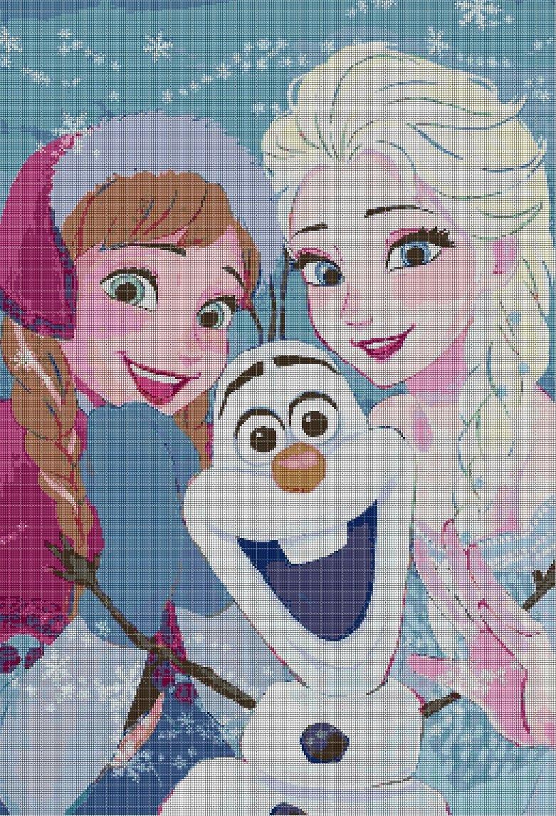 Frozen 2 cross stitch pattern in pdf DMC