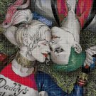 Harley Queen and Joker cross stitch pattern in pdf DMC