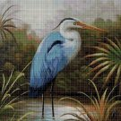 Heron 2 cross stitch pattern in pdf DMC