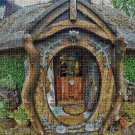 Hobbit house cross stitch pattern in pdf DMC