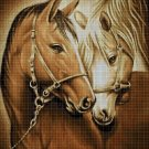 Horses 2 cross stitch pattern in pdf DMC