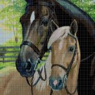 Horses 4 cross stitch pattern in pdf DMC