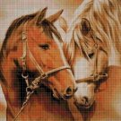 Horses 5 cross stitch pattern in pdf DMC