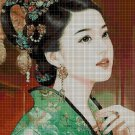 Japanese Princess 4 cross stitch pattern in pdf DMC