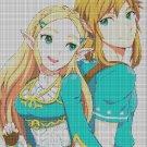Anime elves cross stitch pattern in pdf DMC