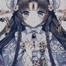 Anime girl 13 cross stitch pattern in pdf DMC