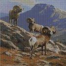 Ibexes cross stitch pattern in pdf DMC