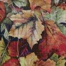 Leaves cross stitch pattern in pdf DMC