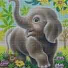 Little elephant cross stitch pattern in pdf DMC