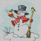 Little snowman cross stitch pattern in pdf DMC