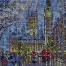 London in the rain cross stitch pattern in pdf DMC