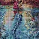 Mermaid 2 cross stitch pattern in pdf DMC