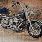 Motorcycle 2 cross stitch pattern in pdf DMC