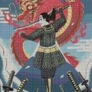 Mulan and Mushu 2 cross stitch pattern in pdf DMC