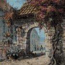 Old arch cross stitch pattern in pdf DMC