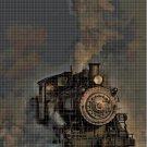 Old train cross stitch pattern in pdf DMC