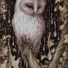 Owl 2 cross stitch pattern in pdf DMC