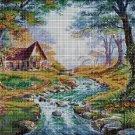 Fairytale forest cross stitch pattern in pdf DMC