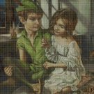 Peter Pan and Wendy 2 cross stitch pattern in pdf DMC