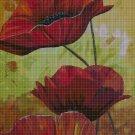 Poppies cross stitch pattern in pdf DMC