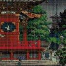 Chinese pagoda 2 cross stitch pattern in pdf DMC