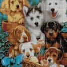 Dogs 3 cross stitch pattern in pdf DMC