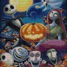 Happy Halloween cross stitch pattern in pdf DMC