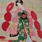 Japanese woman 5 cross stitch pattern in pdf DMC