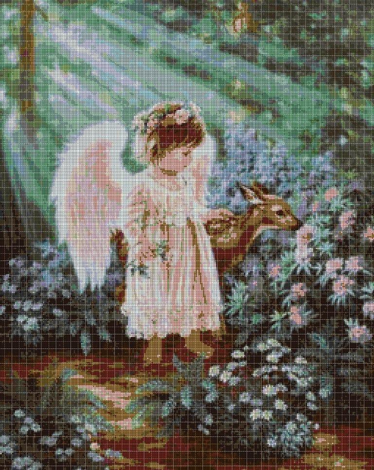 Little Angel 4 cross stitch pattern in pdf DMC