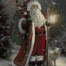 Santa Claus 3 cross stitch pattern in pdf DMC