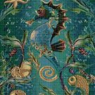 Seahorse cross stitch pattern in pdf DMC