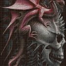 Skull and dragon 2 cross stitch pattern in pdf DMC