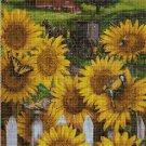 Sunflowers 3 cross stitch pattern in pdf DMC