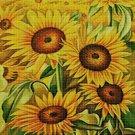 Sunflowers 4 cross stitch pattern in pdf DMC