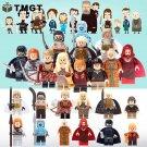 12pcs/lot Jon Snow White Walker MOC Ice and Fire Minifigure fit Lego