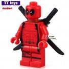 1pcs Armed Deadpool Minifigure fit Lego