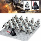 21pcs/lot Darth Vader Clone Trooper Stormtrooper No Base Minifigure fit Lego