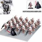21pcs/lot Darth Vader Clone Trooper Stormtrooper No Base Minifigure fit Lego