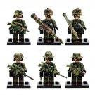 6Pcs Falcon Commandos Swat Military Fit Lego Minifigure Set