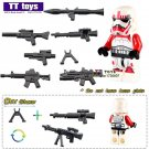 Clone Solider Red Storm Trooper Star Wars Minifigure fit Lego