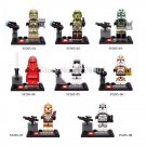 8pcs/lot Emperor's Royal Guard clone's war with weapon Minifigure fit Lego