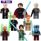 8pcs/lot Satelle Shan Obi-Wan Kenobi Headset Jedi Knight Padawan Minifigure fit Lego