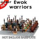 21pcs/lot Star Action Kylo Ren Yoda Imperial Stormtrooper Ewok Warriors General Grievous