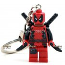 Armed Deadpool Super Hero Custom Ring Keychains