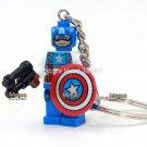 DC Superhero  blocks Fantastic Four DIY Handmade Keychain