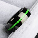 firefighter Ring Stainless Steel Thin Green line Ring Top Quality