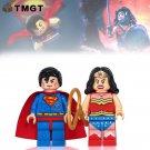 2pcs/lot Superhero Superman Womderman Block Toys Fit Lego