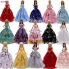 Lot 15 Pcs = 10 Pairs Of Shoes & 5 Wedding Dress Party Gown Princess Cute Outfit Clothes