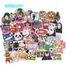 50 Pcs Cartoon Stickers Mixed JDM Style Decor Toy Vinyl Decals Luggage Laptop