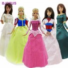 5x Fairy Tale Dress Wedding Party Gown Mixed Style Princess Long Sleeves